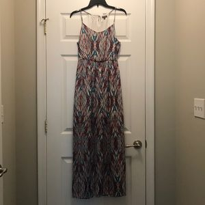 Printed Maxi Dress (Size: S, Gently Used)
